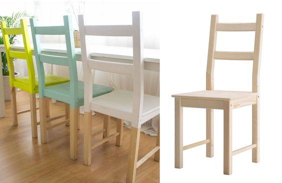 Tavolo ikea con appendice più 4 sedie seminuovo vendo tavolo con appendice di ikea con 4 sedie. Sedie Ikea 20 Idee Per Personalizzare Una Sedia Ikea