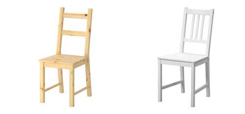 relooking des chaises ikea ivar e
