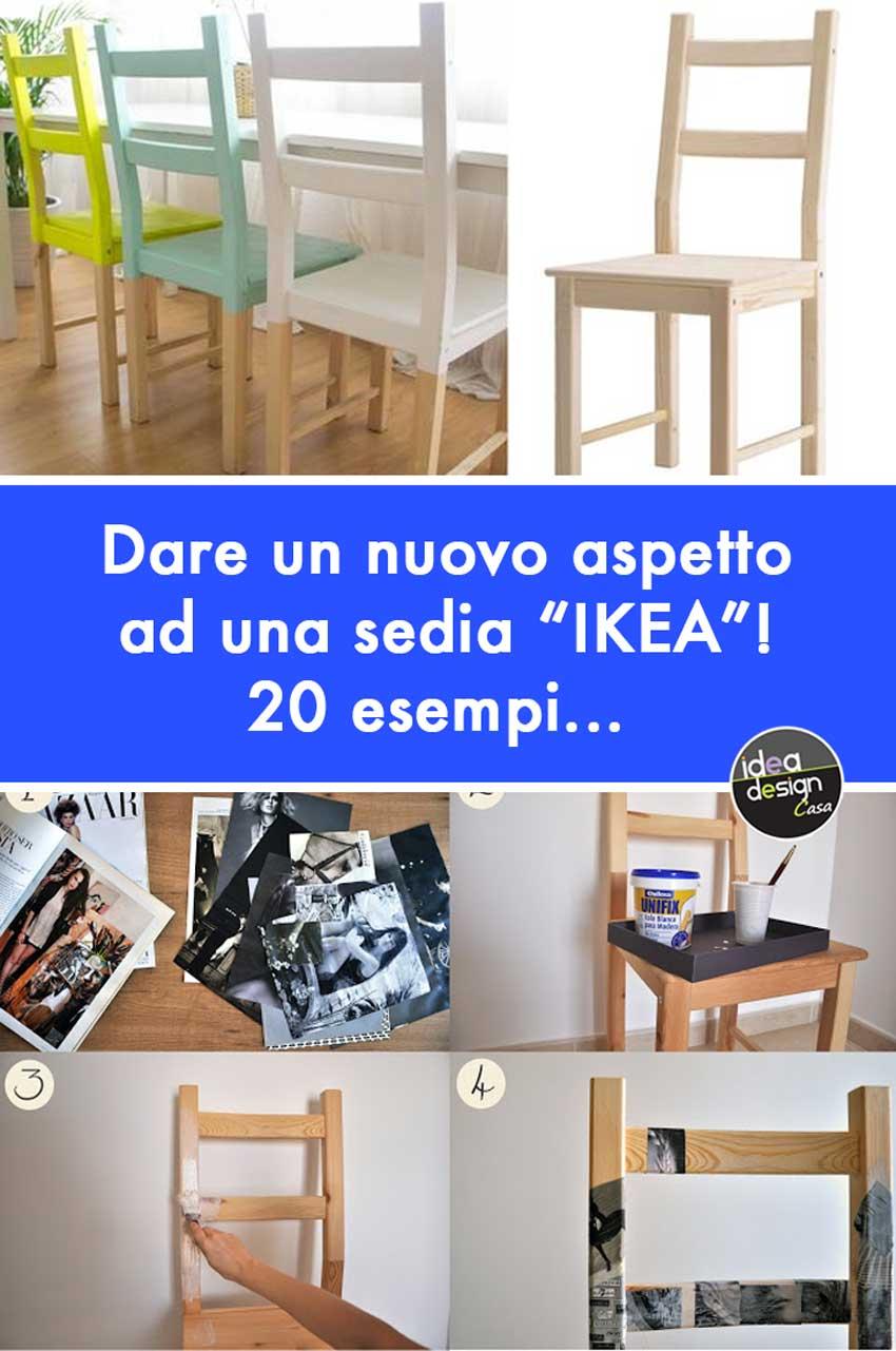 Idee per rinnovare sedie in legno da con i colori per completare l'arredamento giocando con tonalità e geometrie. Sedie Ikea 20 Idee Per Personalizzare Una Sedia Ikea