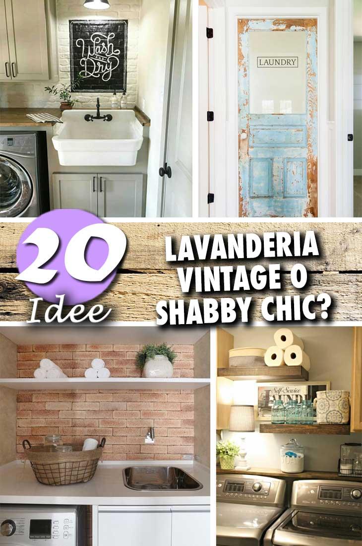 Lavanderia Vintage O Shabby Chic Date Unocchiata A Queste