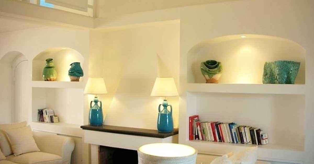 idee parete soggiorno in cartongesso: 15 Idee Da Realizzare Con Il Cartongesso Soffitto Nicchie Mobili Parete