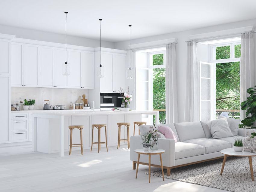 La cucina e il soggiorno insieme? Open Space 40 Idee Per Arredare Cucina E Soggiorno In Un Unico Ambiente