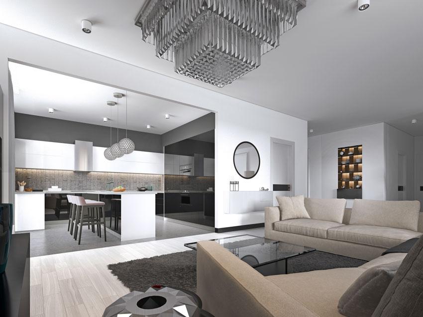 Open space di 30 mq con cucina e soggiorno insieme: Open Space 40 Idee Per Arredare Cucina E Soggiorno In Un Unico Ambiente