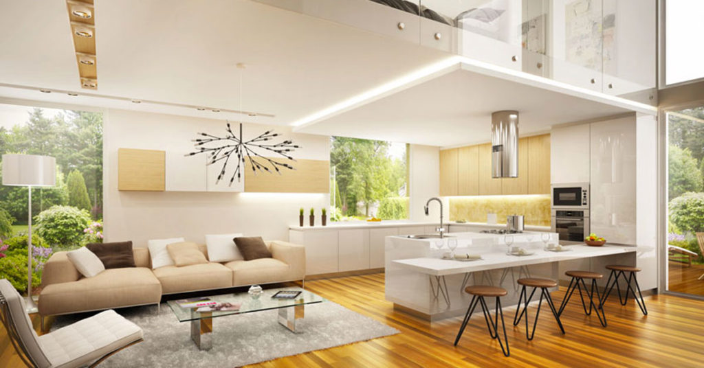 Come abbinare l'arredamento antico e moderno insieme: Open Space 40 Idee Per Arredare Cucina E Soggiorno In Un Unico Ambiente