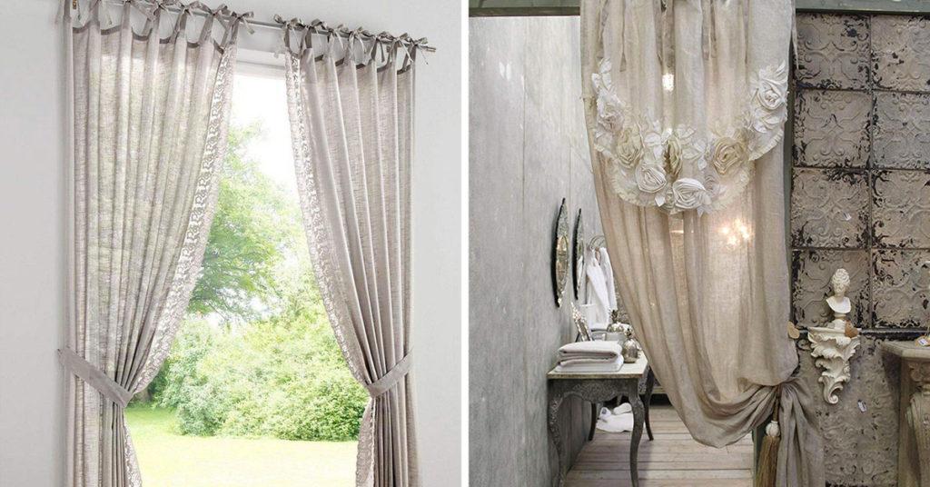 Accessori e decorazioni per un perfetto bagno in stile shabby chic. Le Piu Belle Tende Shabby Chic Per La Tua Casa 40 Ispirazioni Da Copiare