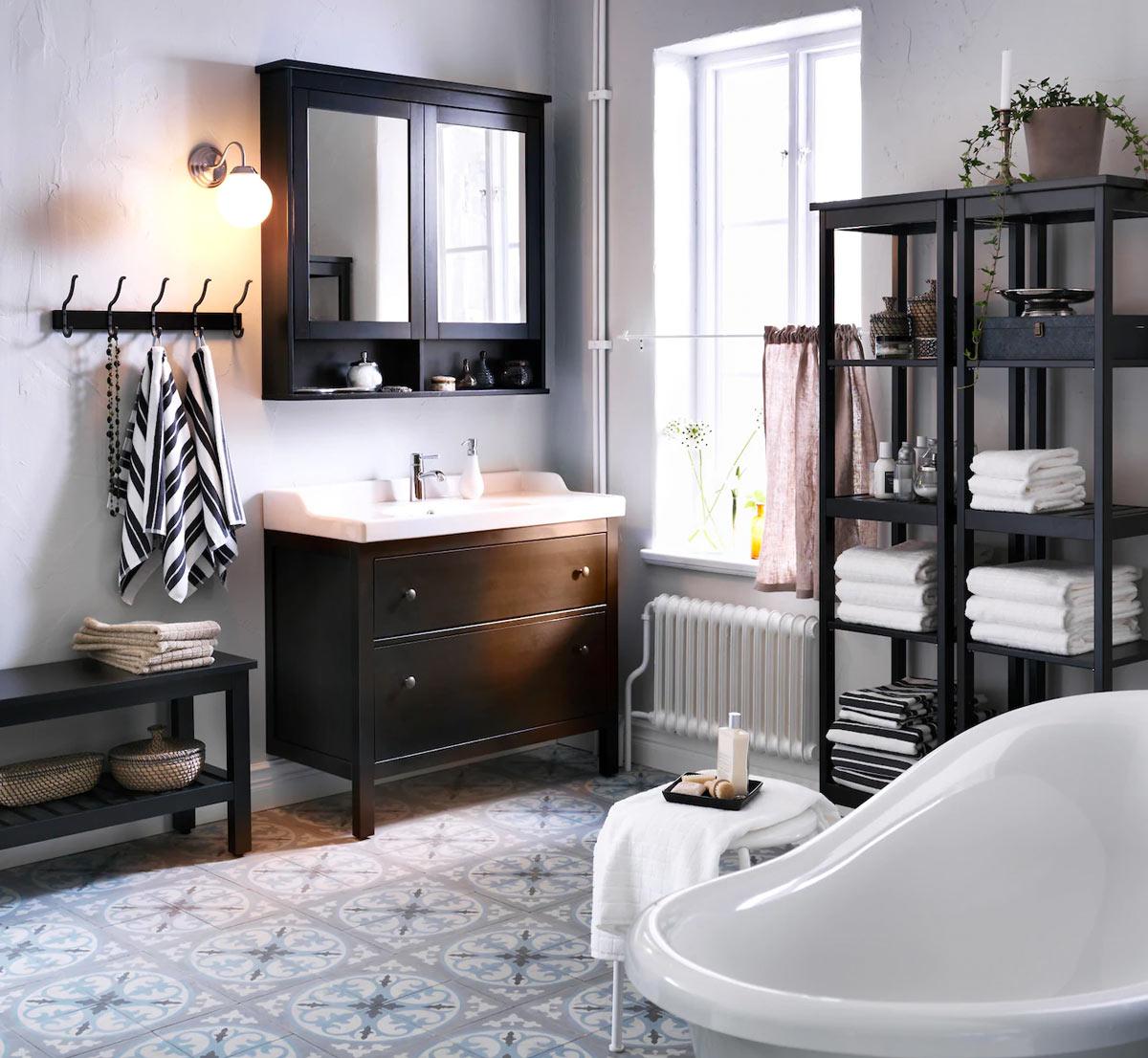 Mobile bagno lilium da 65 cm con due ante in noce o decapè bianco o azzurro lavabo in ceramica. Ikea Bagno I Mobili Del Catalogo 2020 Lasciati Ispirare