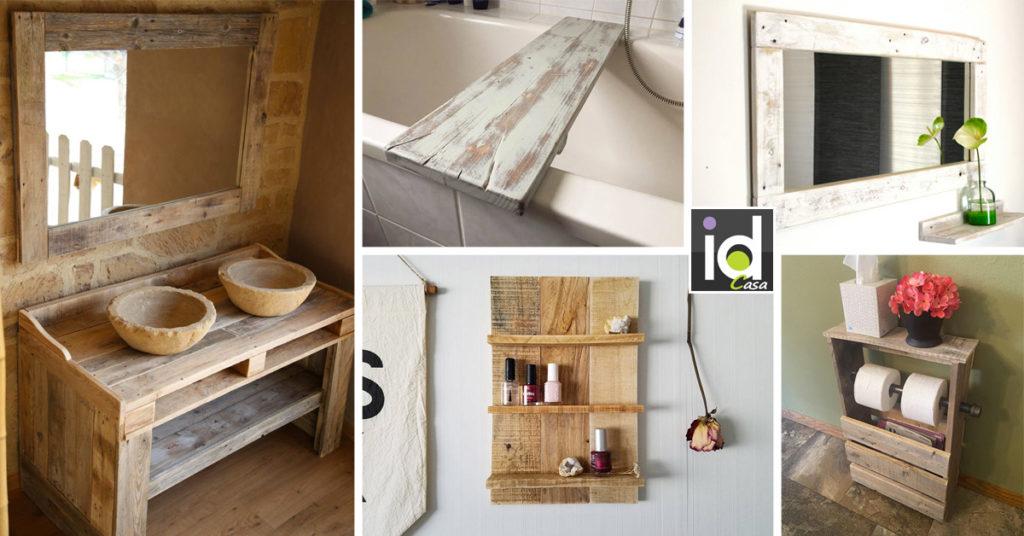 Col legno si può dar vita a una miriade di oggetti e complementi d'arredo diversi: Mobili E Arredi Per Il Bagno Con Pallet 15 Ispirazioni Fai Da Te