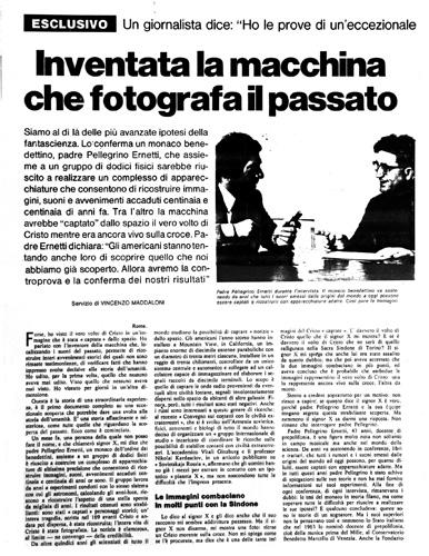 Padre Ernetti intervistato alla domanice del Corriere