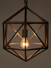 lampadario bronzo stile industrial chic arredo bagno