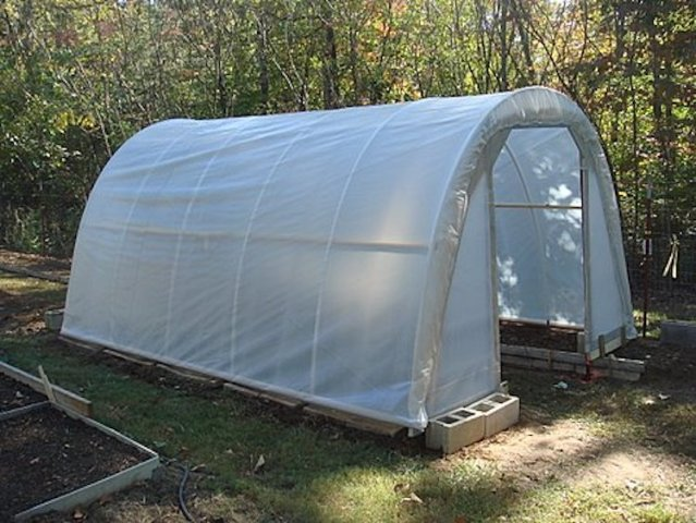21 Cheap   Easy DIY Greenhouse Designs You Can Build Yourself The  50 Hoop House Greenhouse