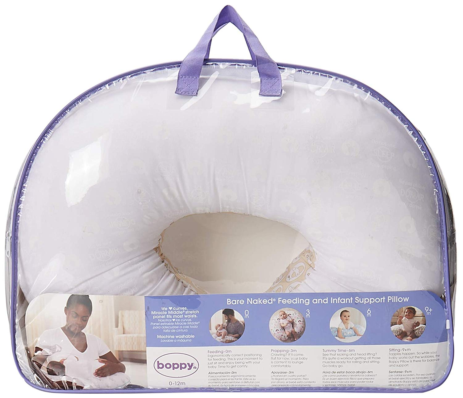 boppy miracle middle bare naked nursing pillow