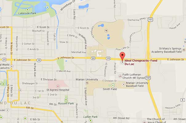Map-to-Ideal-Chiropractic-a-Chiropractor-in-Fond-du-Lac,-WI