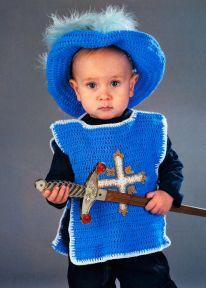 Новогодний костюм крючком для мальчика 1-2 года