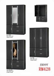 simple almari, wardrobe almari, kabinet baju kain, design almari baju moden, rak baju lazada,