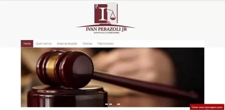 Desenvolvimento de site responsivo para ivan perazoli advogados