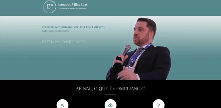 Desenvolvimento de site responsivo para Leonardo Villas Boas