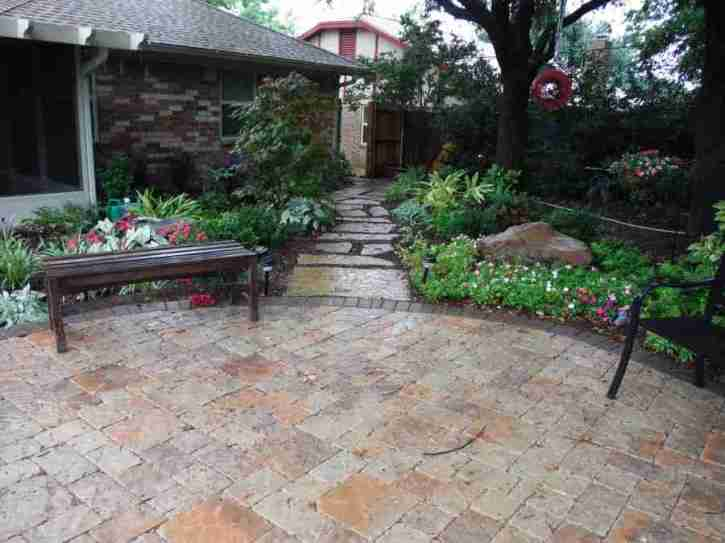 flagstone patio - Flagstone Patio Installation - Fort Worth - Hardscapes - Arlington