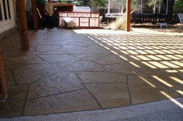 stamped concrete - landscaping ideas