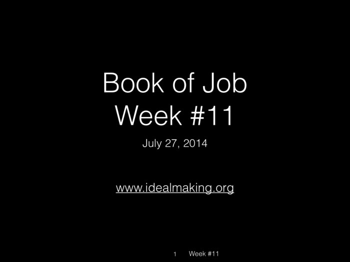 Book of Job, Raz, Week #11.001