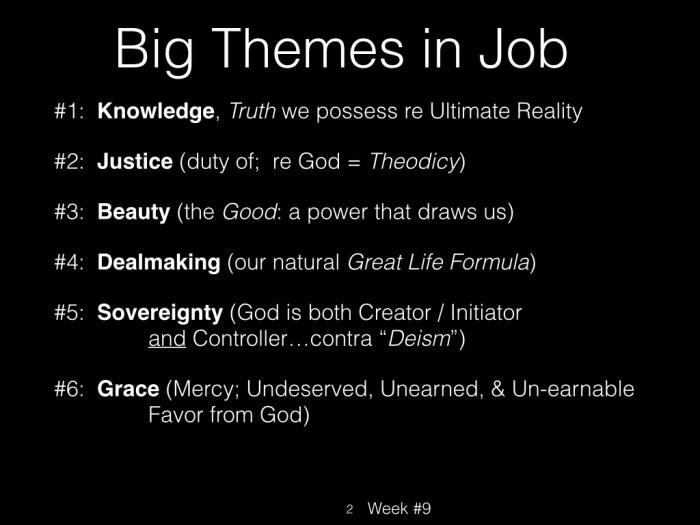 Book of Job, Raz, Week #9.002