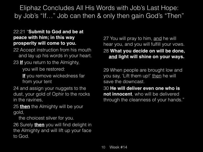 Book of Job, Raz, Week #14.010