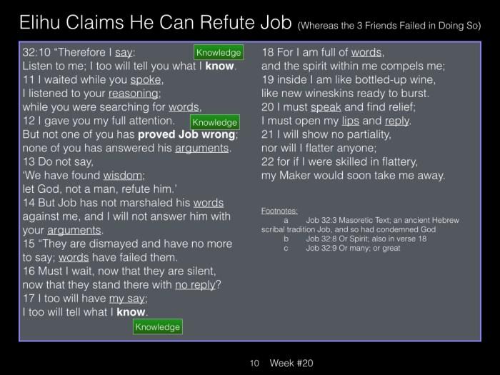 Book of Job, Raz, Week #20.010