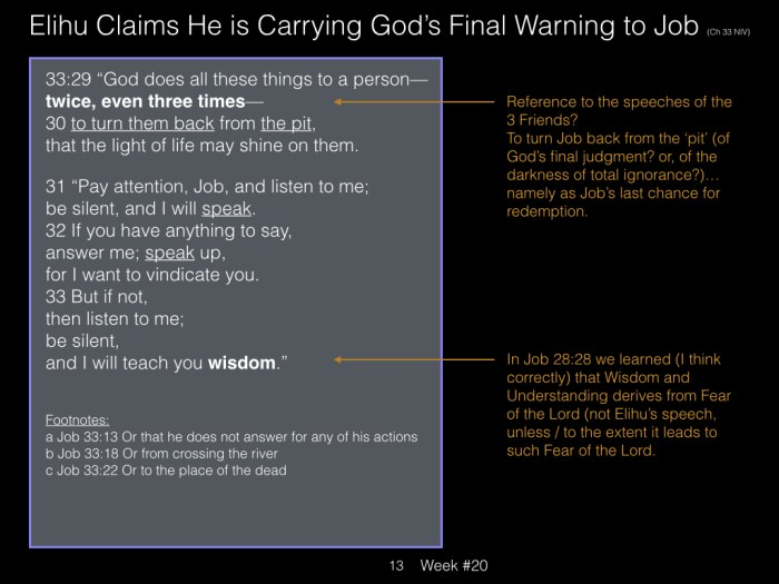 Book of Job, Raz, Week #20.013