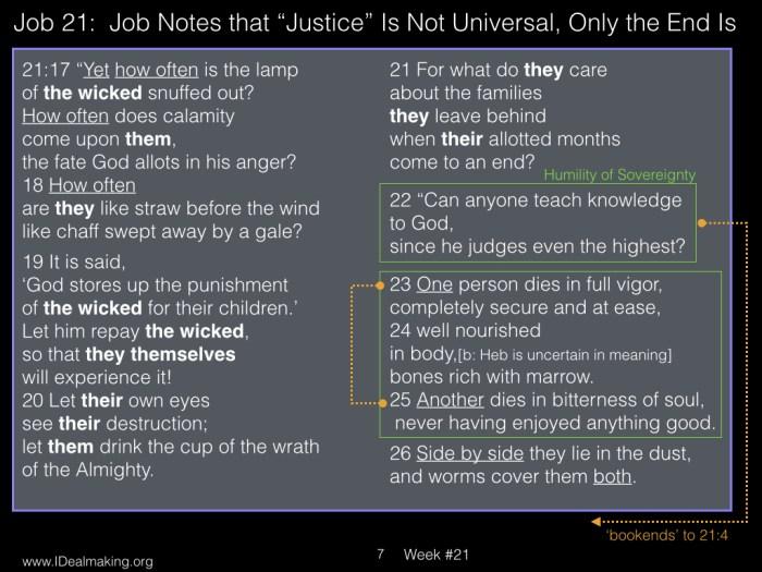 Book of Job, Week #21 LB.007