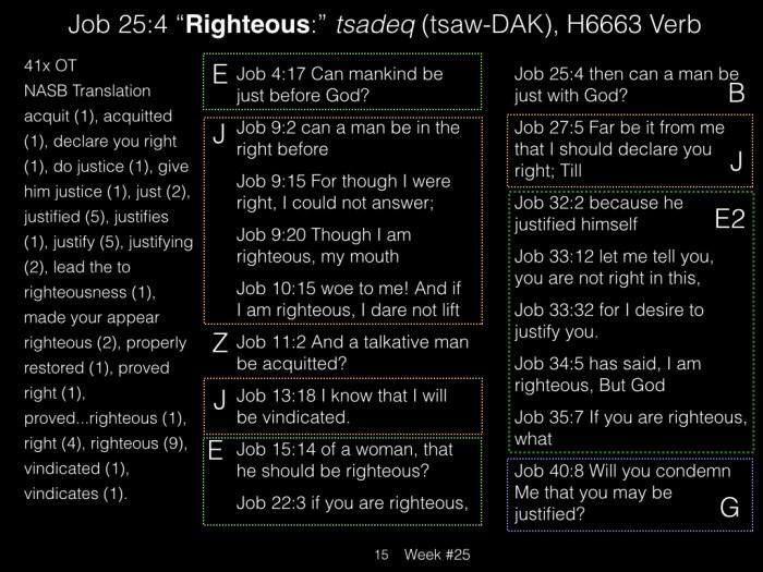 Book of Job, Week #25 LB.015