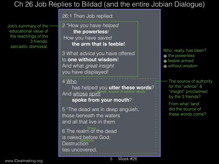 Book of Job, Week #26 LB.005