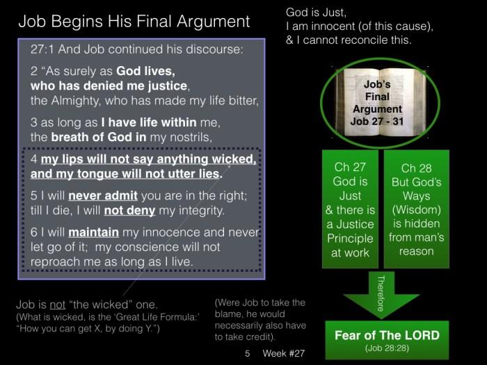 Book of Job, Week #27 LB.005