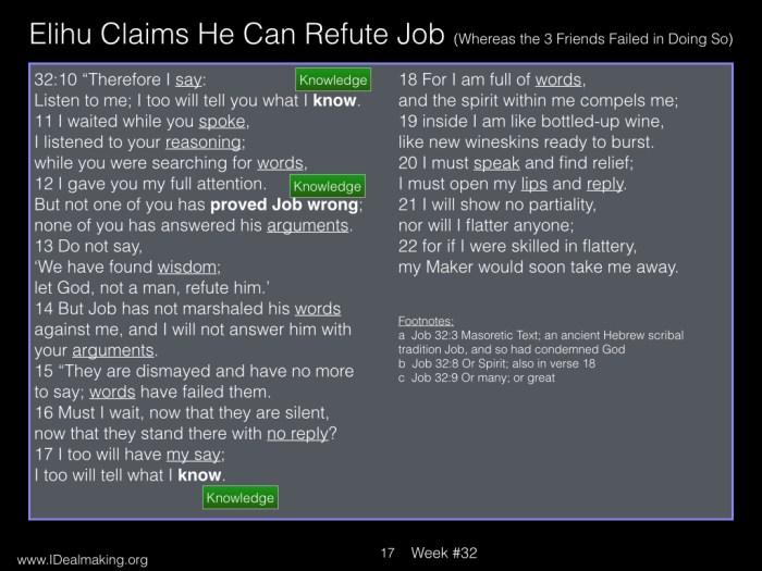 Book of Job, Week #32 LB.017