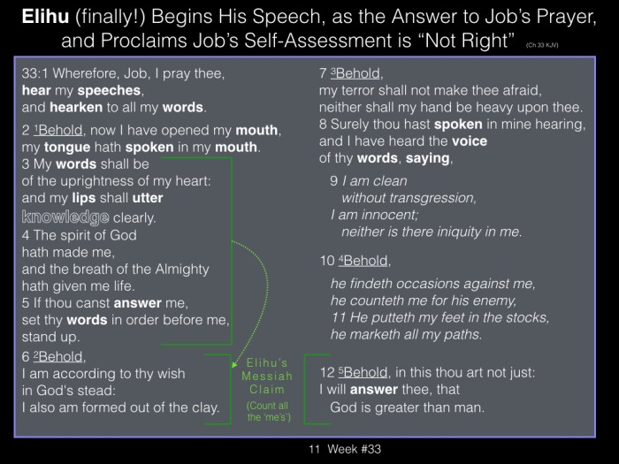 Book of Job, Week #33 LB.011