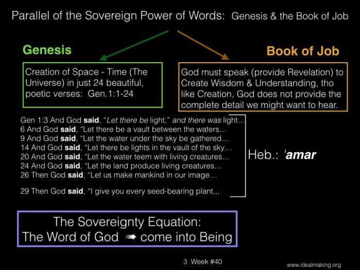 Book of Job, Week #40B.003
