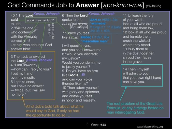Book of Job, Week #40B.009