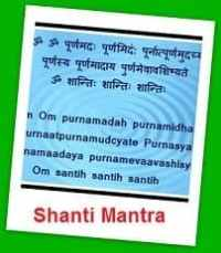 Click here to go Shanti Mantra Page