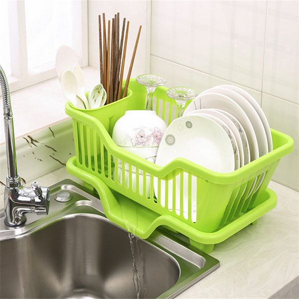 dish drainer with drip tray for kitchen sink rack