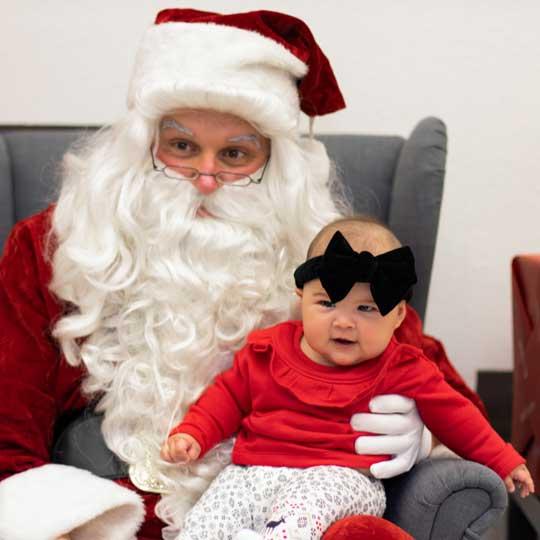Santa & girl