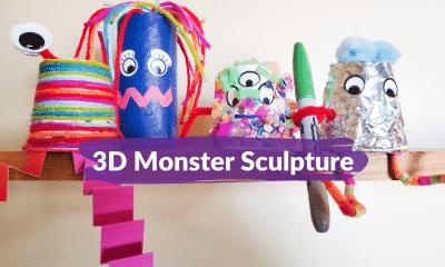 3D Monster Sculptures