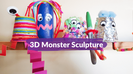 3D Monster Sculptures