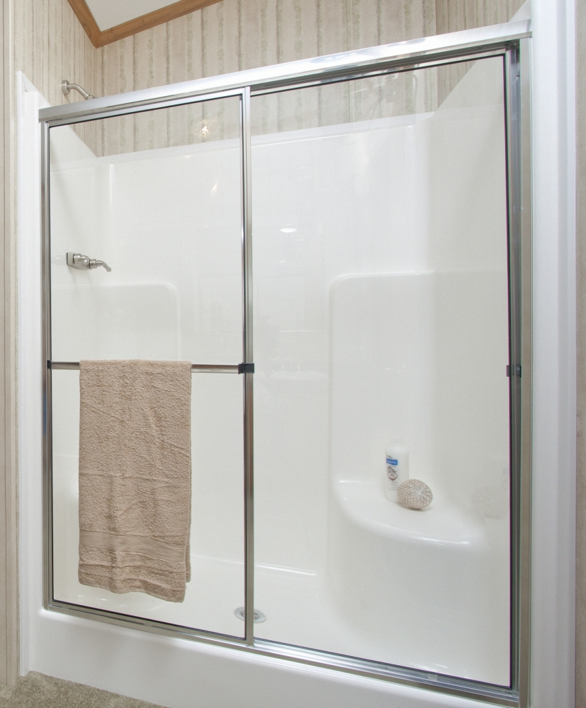 One Piece Shower Units With Seat Shelves And Tub Ideas