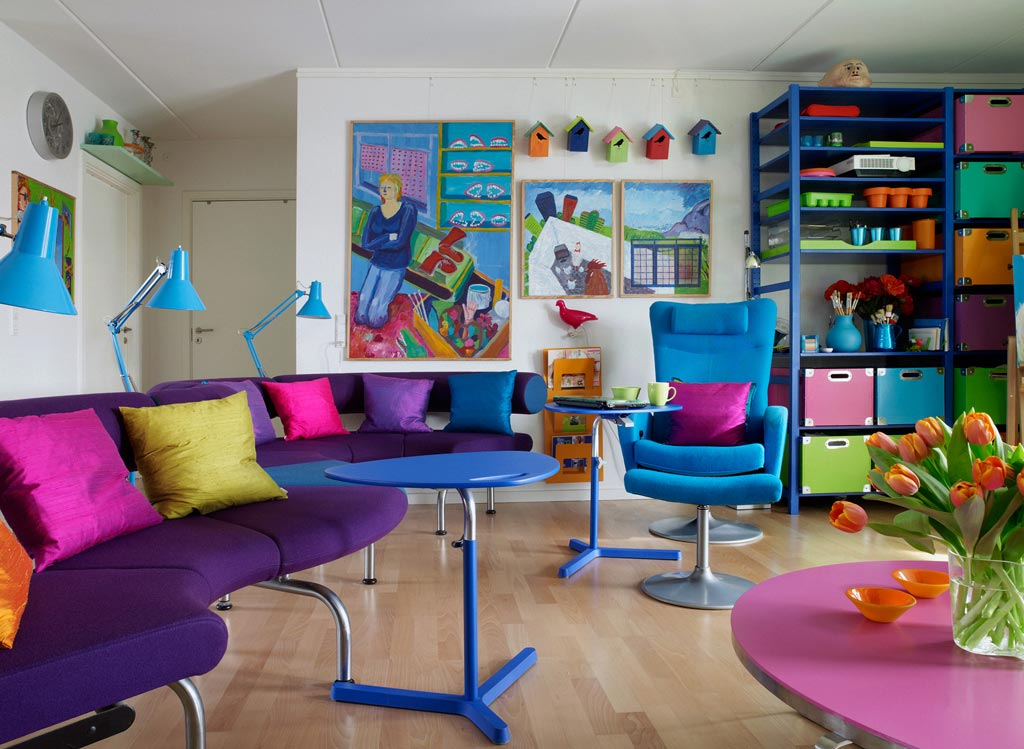 Fun and Bright Living Room Color Ideas Wrapping Comfort ... on Fun Living Room Ideas  id=56559