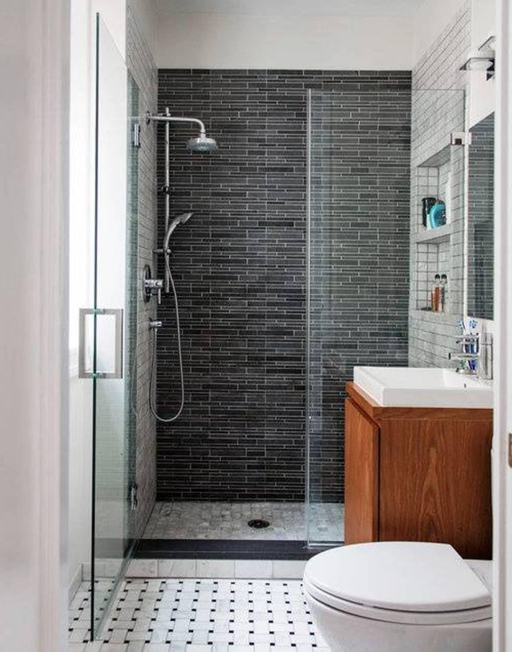 Stylish Small Bathroom Design Ideas for a Space-Efficient ... on Simple Bathroom Designs For Small Spaces  id=19830
