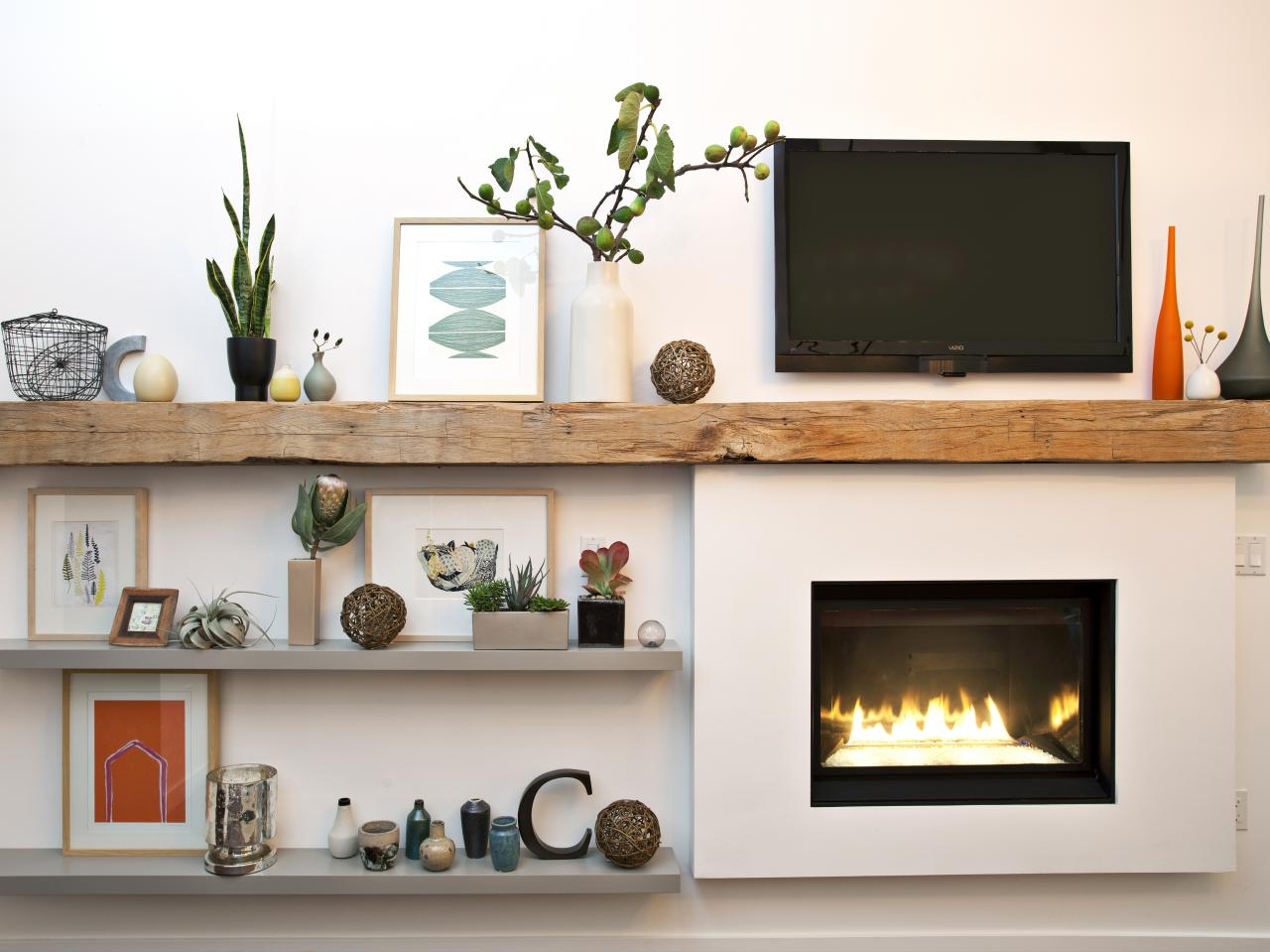 Appealing Contemporary Fireplace Mantel Design Ideas ... on Shelf Sconces For Living Rooms Contemporary id=64127