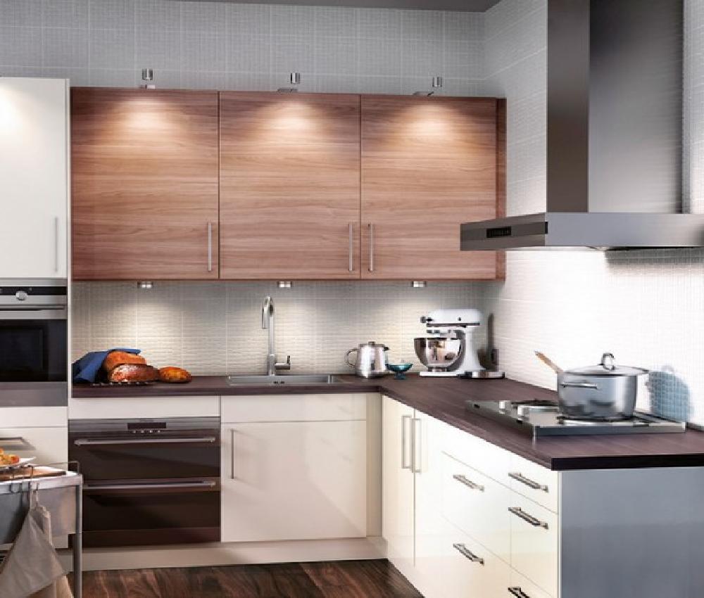 Minimalist IKEA Kitchen Cabinet Selection In Lighter Tone