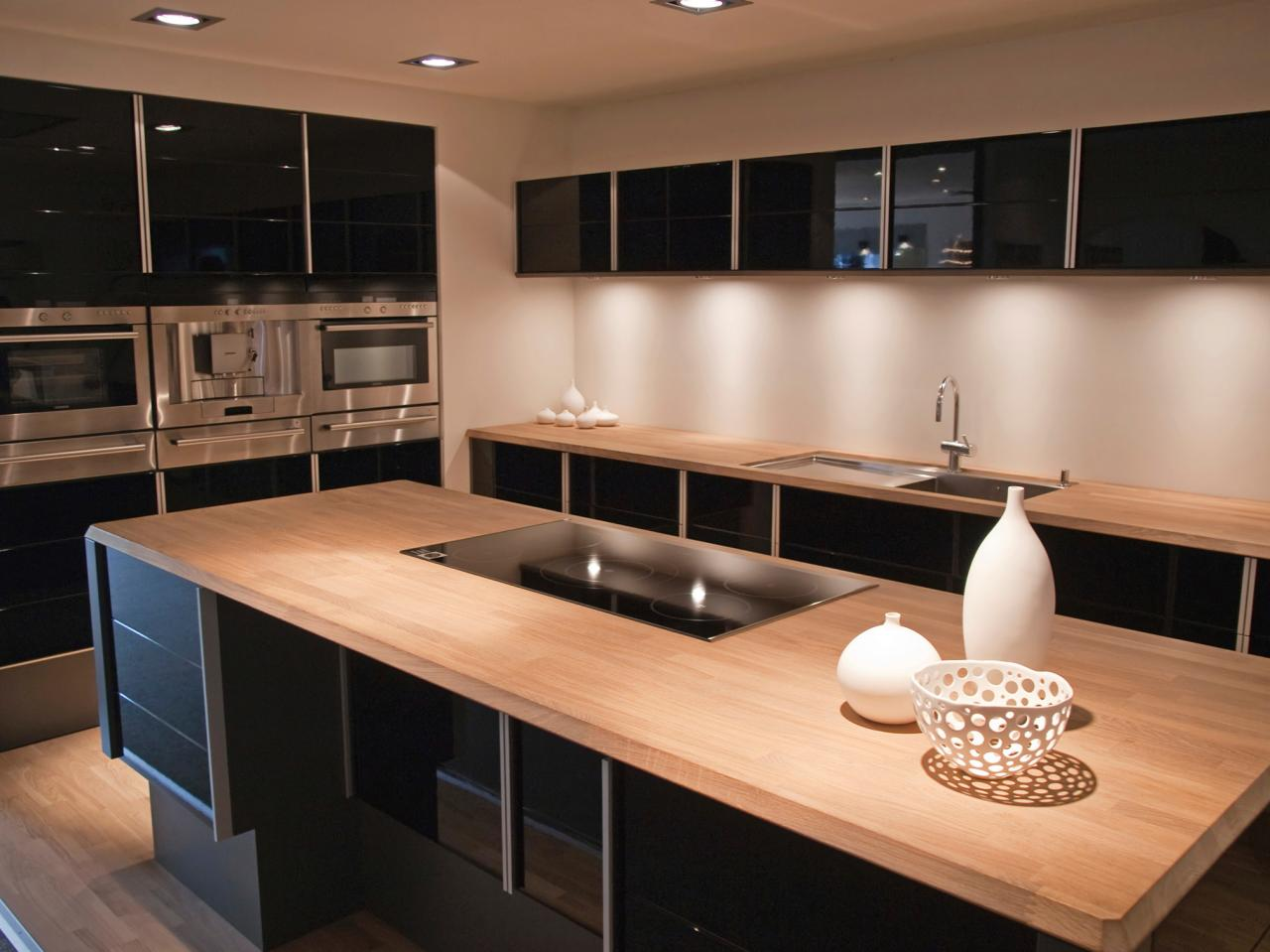 Natural Wooden Kitchen Countertops for a Trendy Look ... on Modern Kitchen Countertop Decor  id=75486