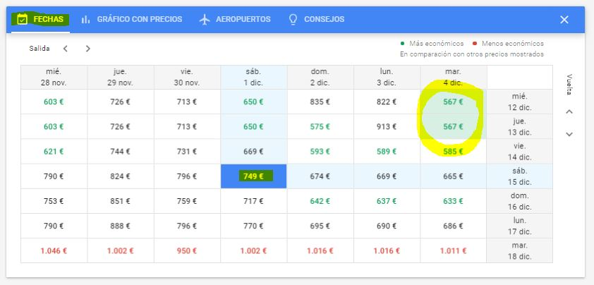 Fechas_googleflights_Ideas on Tour