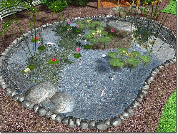 Adding a Pond on Landscape Pond Design id=38158