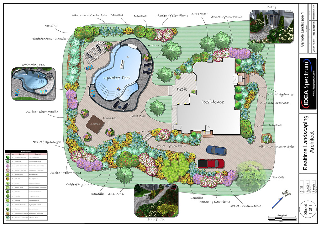 Landscape Design Software by Idea Spectrum - Realtime ... on Backyard Layout Planner  id=81344