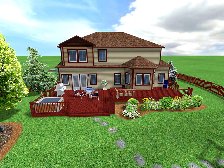 Landscape Design Software Gallery - Page 3 on Backyard Ideas On A Slope id=97366
